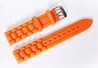 Ремешок каучуковый для наручных часов Geneva с классической застежкой, оранжевый, 18 мм