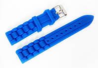 Ремешок каучуковый для наручных часов Geneva с классической застежкой, синий, 18 мм