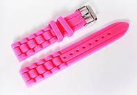 Ремешок каучуковый для наручных часов Geneva с классической застежкой, розовый, 18 мм