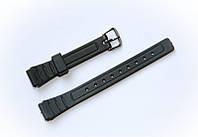 Ремешок пластиковый Nobrand для наручных часов с классической застежкой, черный, 12 мм