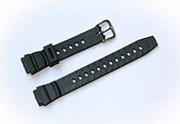 Ремешок пластиковый Nobrand для наручных часов с классической застежкой, черный, 14 мм