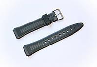 Ремешок пластиковый Nobrand для наручных часов с классической застежкой, черный, 16 мм