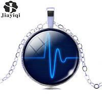Подвеска кабошон пульс кардиограмма