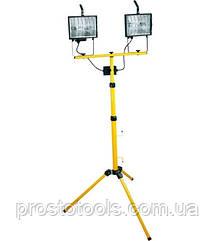 Прожектор галогенный 2х500Вт на штативе Topex 94w038