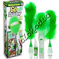Вращающаяся щетка метелка для удаления пыли Антипыль Go Duster (Гоу Дастер) 3 насадки