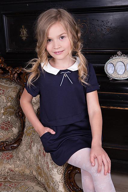 Модное школьное платье для девочек