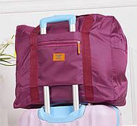 Дорожная сумка для путешествия малиновая