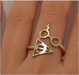 Кольцо серебряное Гарри Поттер и Дары Смерти КЦ-23 Б, фото 5