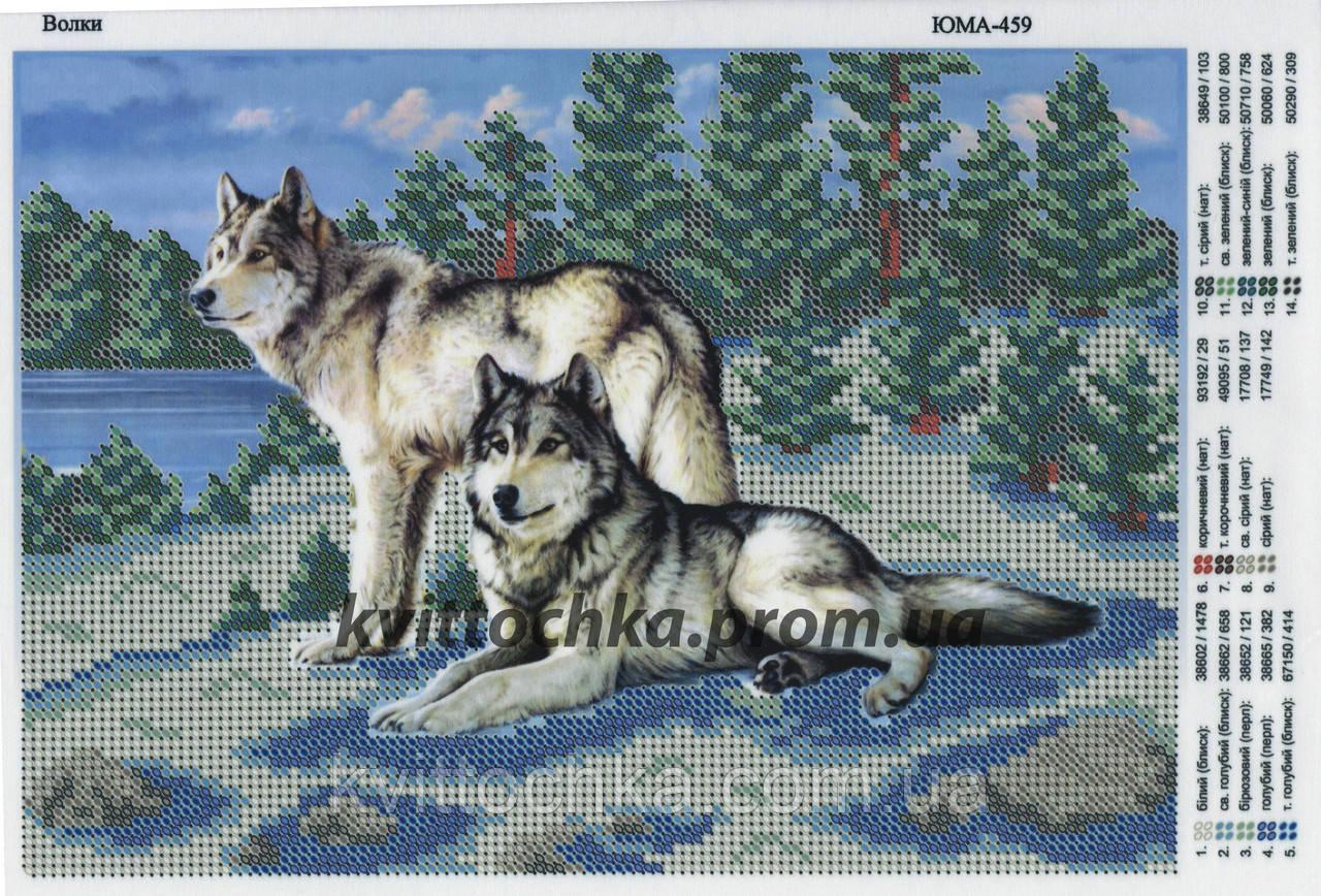 """Схема для вышивания бисером """"Волки"""""""