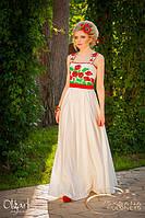 Платье с вышивкой, маки, фото 1