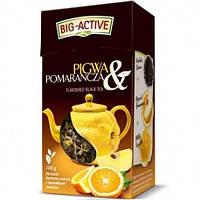 Чай Big Active черный с айвой и апельсином 100г