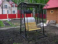 Размеры садовых качелей из металла