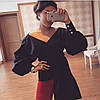 Шикарная блуза с декольте на запах и рукавом-фонариком, фото 3