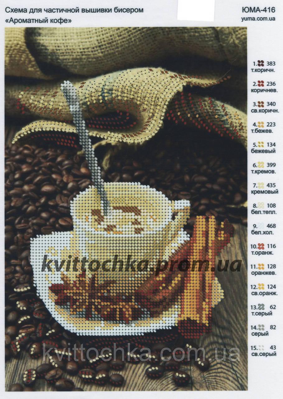 """Схема для вышивания бисером """"Ароматный кофе"""""""