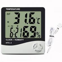Термометр с выносным датчиком HTC-2 Метеостанция цифровая домашняя