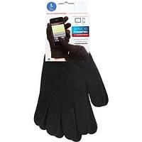 Перчатки для телефона GLOBAL Touch Screen L Black