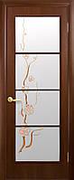 Межкомнатные двери Виктория Р3 (венге DeWild, орех 3d)