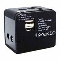 Зарядное устройство Mobiking Международный адаптер 220В SP-118U2 + 2USB 1A (30331)