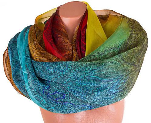 Шикарный женский шарф из шифона 183 на 105 см. ETERNO (ЭТЕРНО) P-P-47