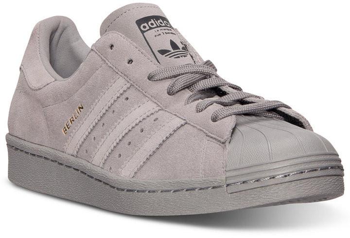 c09c8ce96 Кроссовки Adidas Superstar светло серые (нат.замша) - Stylemall Торговый  Центр в Киеве