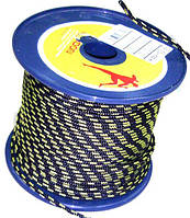 Веревка TENDON 4мм синий-желтый  100 метров