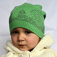 Полушерстяная детская шапочка с рисунком