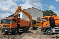 Аренда экскаваторов. Разработка грунта под фундамент в Киеве и пригороде.
