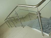 Металлические перила на лестницу из нержавейки