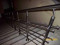 Поручни из нержавейки для лестницы