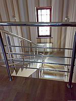 Пристенные поручни из нержавейки диаметром 32мм