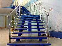 Изготовление поручней для лестниц из нержавеющей стали