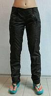 Женские спортивные штаны ADIDAS (659) черные плащевка код 0102 Б