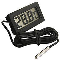 Термометр TPM-10 чорний з виносним датчиком