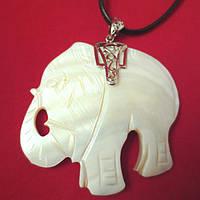 Перламутр, слон кулон