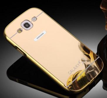 Чехол для Samsung S3 i9300 золотой зеркальный акрил