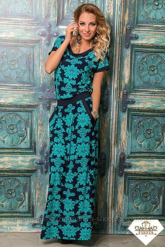 Женское длинное платье разные расцветки