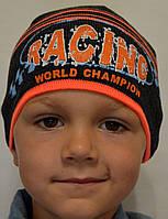 Тонкая шапочка для мальчика  от 3 до 12 лет