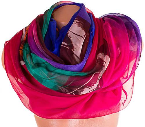 Женский интересный шарф из шифона 190 на 144 см. ETERNO (ЭТЕРНО) P-P-58