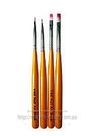 Набор кисте 4 шт. оранжевая ручка
