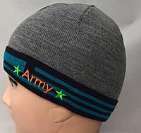 Вязаная детская шапочка с застежкой сзади , фото 1