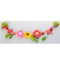 Деревянная игрушка Погремушка - растяжка на коляску MD 0700