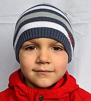 Вязаная детская шапочка с застежкой сзади, фото 1