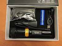 Фонарь-светильник Police T-9880, Q5 + 2 светодиодные панели по 8 led, красный маяк