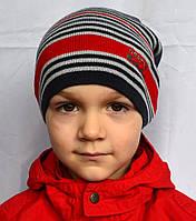 Вязаная шапка пряжа 50% акрил, 50% полушерсть, фото 1