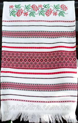 Свадебный вышитый рушник | Весільний вишитий рушник Калина 1,9 м, фото 2
