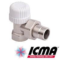 Icma 774 терморегулирующий вентиль радиаторный 1/2*28х1,5 угловой