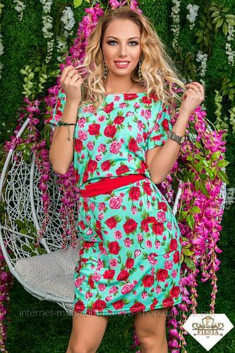 Женское платье креп разные расцветки