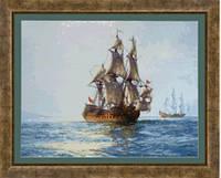 Набор для вышивания нитками За мотивами М.Доусона. Величественный Чарльз в залитых солнцем водах М-138