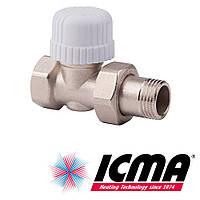 Icma 775 терморегулирующий вентиль радиаторный 3/4*28х1,5 прямой