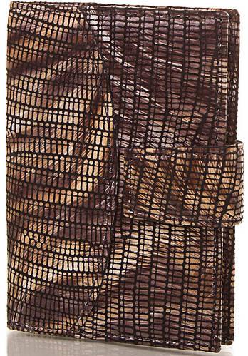 Выразительная женская кожаная визитница CANPELLINI (КАНПЕЛЛИНИ) SHI050-10-ZM коричневый